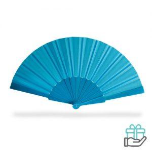 Handwaaier color blauw bedrukken