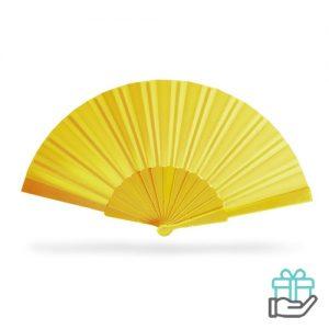 Handwaaier color geel bedrukken