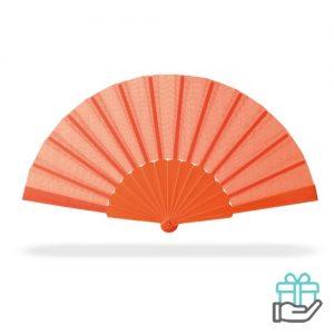 Handwaaier color oranje bedrukken
