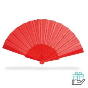 Handwaaier color rood bedrukken