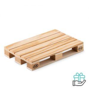 Houten onderzetter houtkleur bedrukken