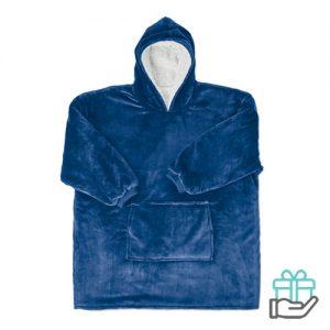 Huissweater blauw bedrukken