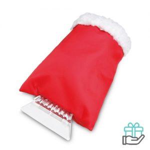 IJskrabber handschoen rood bedrukken