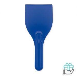 IJskrabber transparant blauw bedrukken