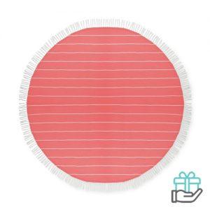 Katoenen hamamdoek rond rood bedrukken