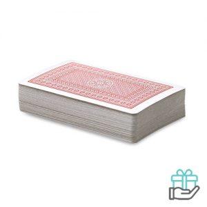 Klassieke speelkaarten rood bedrukken