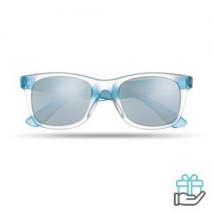 Klassieke zonnebril blauw bedrukken