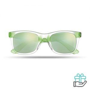 Klassieke zonnebril groen bedrukken