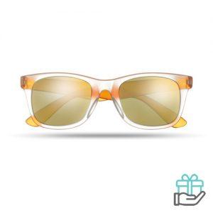 Klassieke zonnebril oranje bedrukken