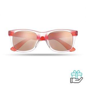 Klassieke zonnebril rood bedrukken