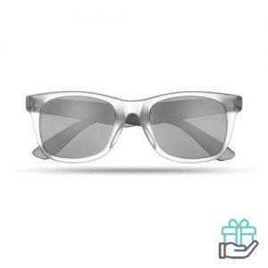 Klassieke zonnebril zwart bedrukken