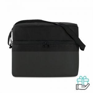 Koeltas polyester 600D zwart bedrukken