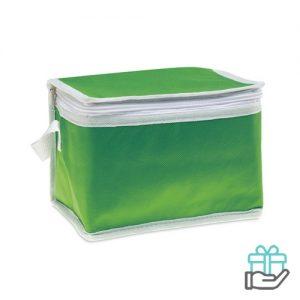 Koeltas voor 6 blikjes groen bedrukken
