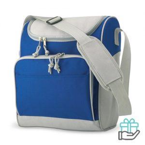 Koeltasje compact koninklijk blauw bedrukken