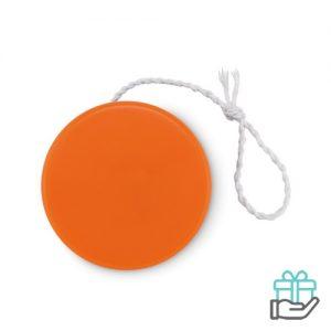 Kunststof jojo oranje bedrukken