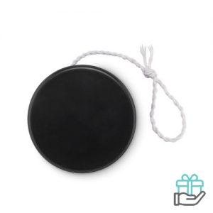 Kunststof jojo zwart bedrukken