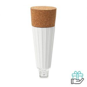 LED Flessenstopper wit bedrukken