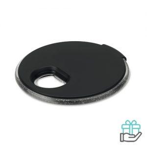 LED onderzetter flesopener zwart bedrukken