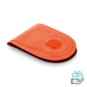 LED veiligheidslicht magneet neon oranje bedrukken