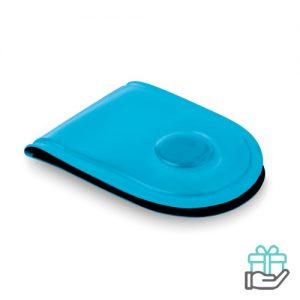 LED veiligheidslicht magneet turquoise bedrukken