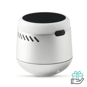 Light-up logo Bluetooth luidspreker mat zilver bedrukken
