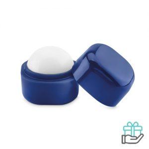 Lippenbalsem kubusvorm blauw bedrukken
