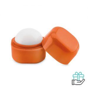 Lippenbalsem kubusvorm oranje bedrukken