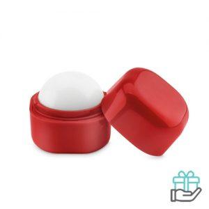 Lippenbalsem kubusvorm rood bedrukken