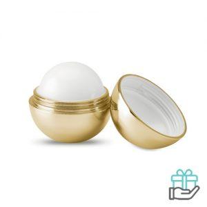 Lippenbalsem metallic UV bol goud bedrukken
