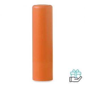 Lippenbalsem naturel oranje bedrukken