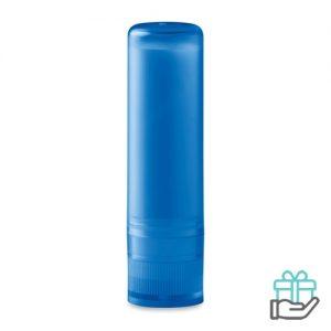 Lippenbalsem naturel transparant blauw bedrukken