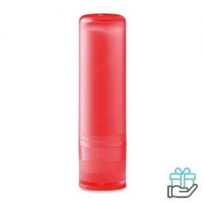 Lippenbalsem naturel transparant rood bedrukken