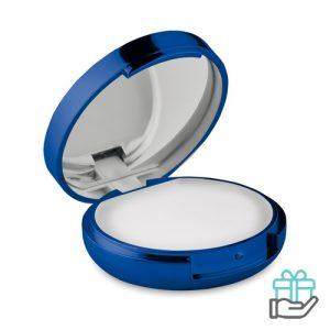 Lippenbalsem spiegel blauw bedrukken