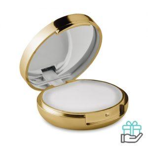 Lippenbalsem spiegel goud bedrukken