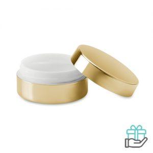 Lippenbalsem vanille goud bedrukken