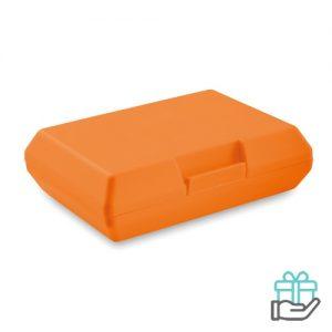 Lunchbox PP oranje bedrukken