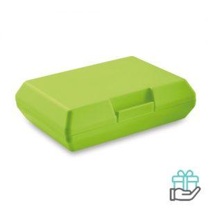 Lunchbox basic limegroen bedrukken