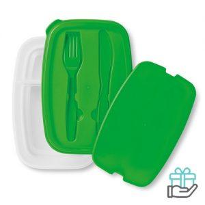 Lunchbox simpel groen bedrukken