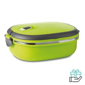 Lunchbox vacuum limegroen bedrukken