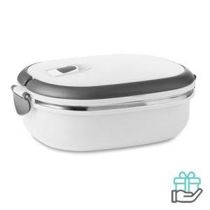Lunchbox vacuum wit bedrukken