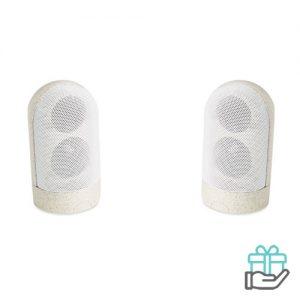 Magnetische luidsprekers beige bedrukken