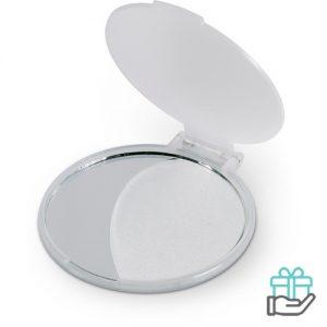 Make-up spiegel budget transparant wit bedrukken