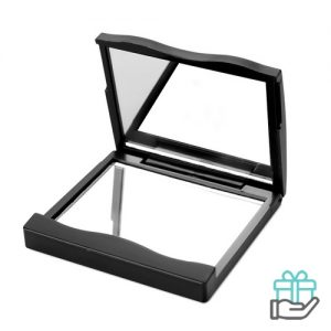 Make-up spiegel pocketsize zwart bedrukken
