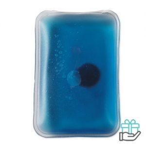 Massage hot cold pad blauw bedrukken