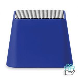 Mini bluetooth speaker vierkant koninklijk blauw bedrukken