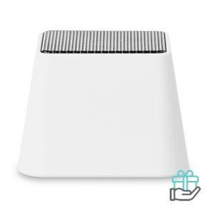 Mini bluetooth speaker vierkant wit bedrukken