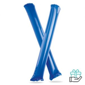 Opblaasbare cheering sticks blauw bedrukken
