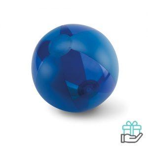 Opblaasbare strandbal trend blauw bedrukken
