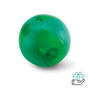 Opblaasbare strandbal trend groen bedrukken