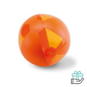 Opblaasbare strandbal trend oranje bedrukken